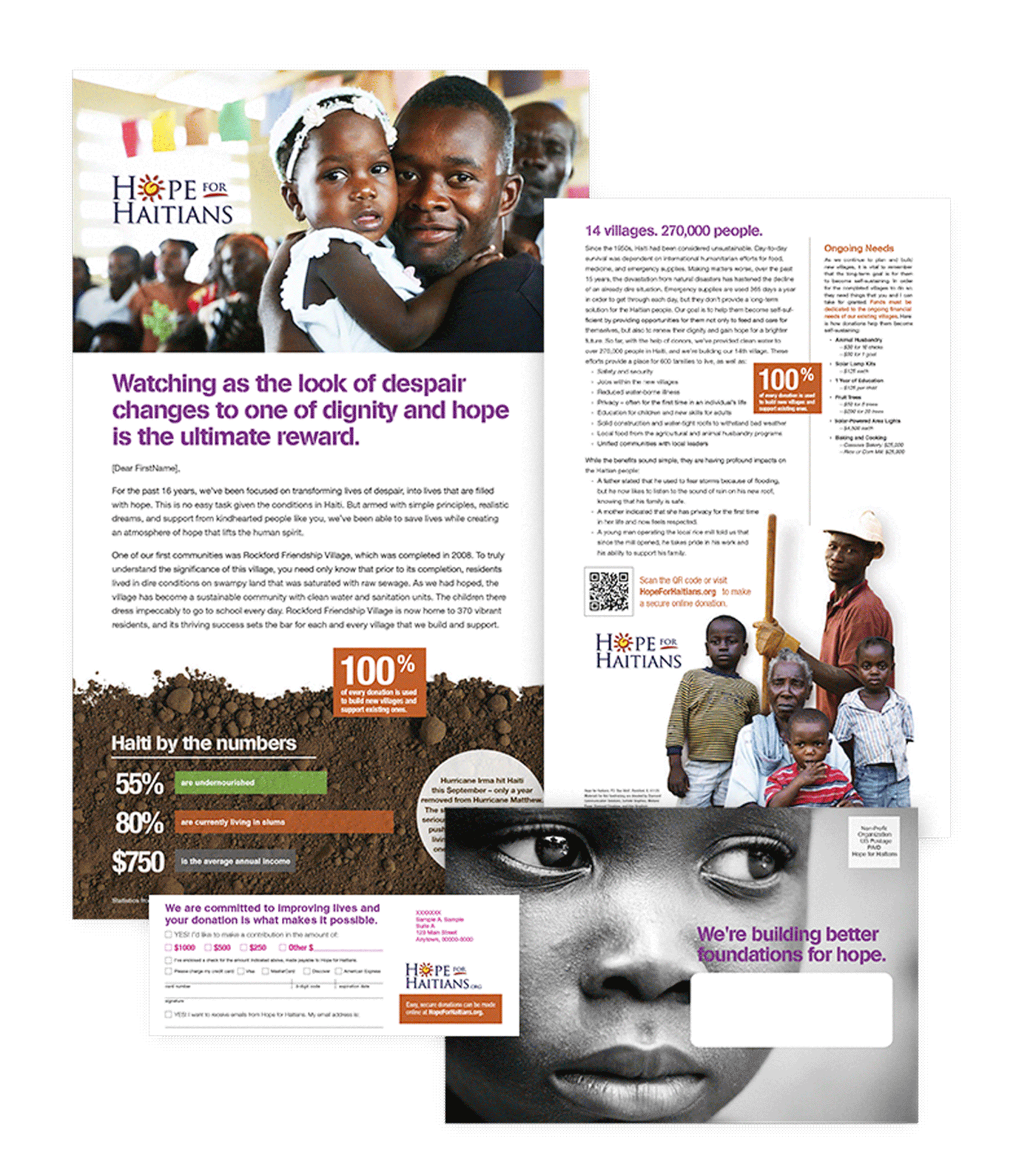 Hope for Haitians Direct Marketing Collateral